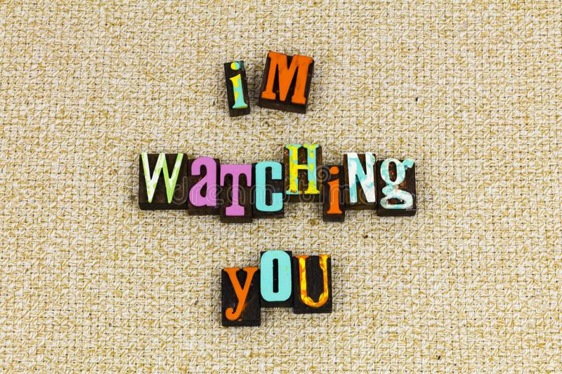 Watching you learning teaching royalty free stock image