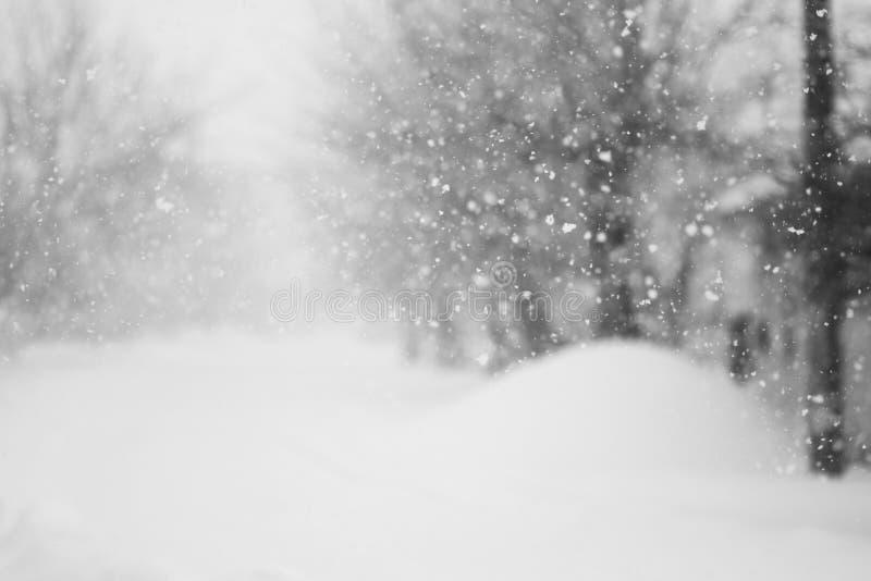 Im Weg viel schneien stockbild