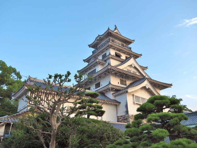 Imabari-Schloss in Imabari, Japan lizenzfreies stockbild