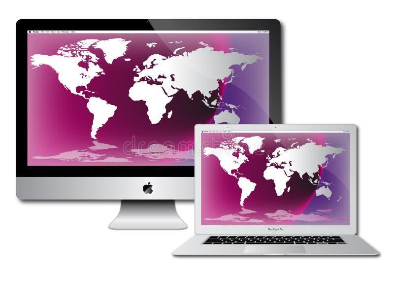 Imac do ar do macbook de Apple ilustração do vetor