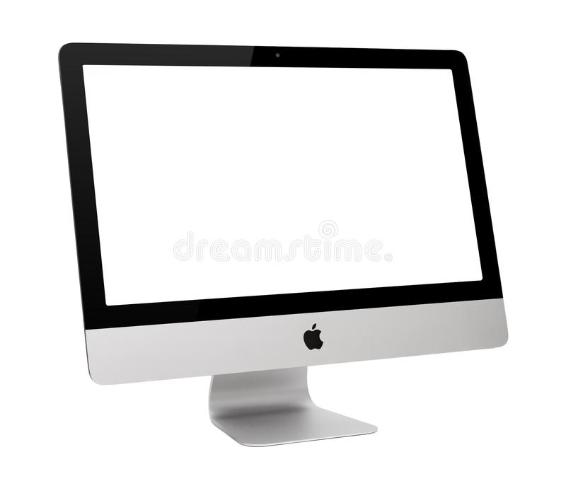 IMac. UFA, RUSSIA - MAY 7 , 2014: Photo of new iMac, With OS X Yosemite. iMac - monoblock series of personal computers, created by Apple Inc