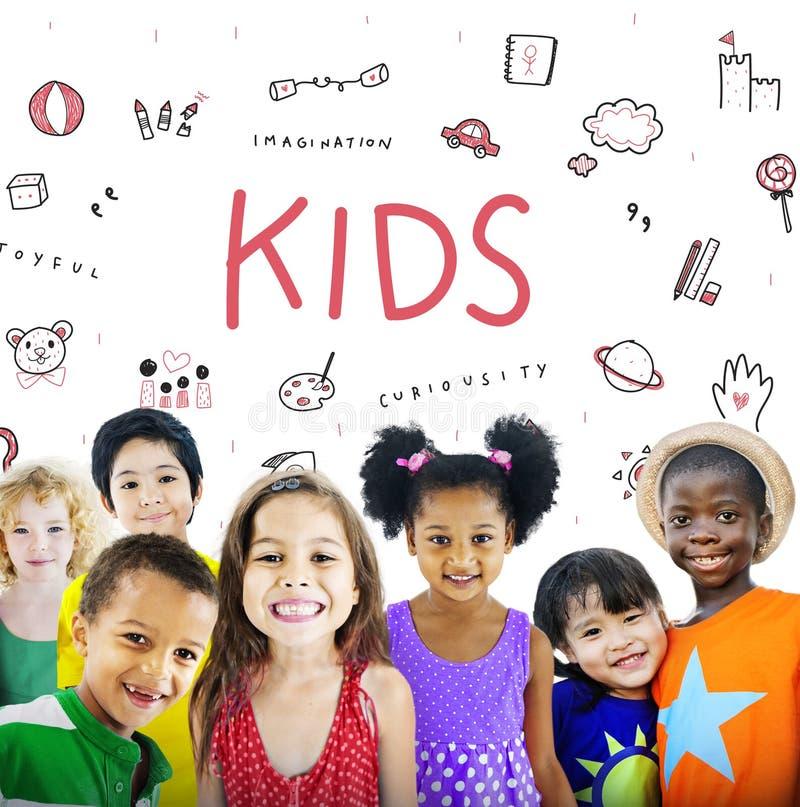 Imagínese el concepto del icono de la educación de la libertad de los niños fotos de archivo libres de regalías