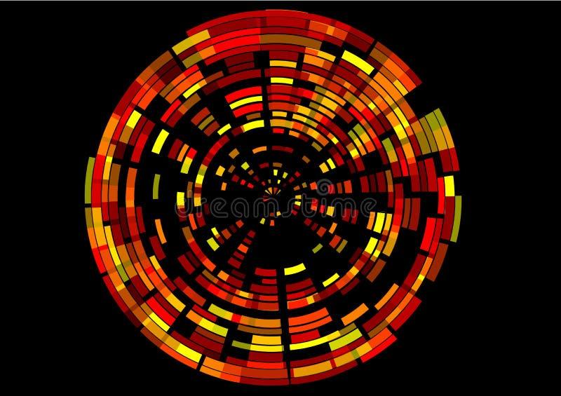 Imag digital rouge de mouvement giratoire virtuel illustration de vecteur