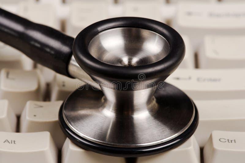 Image électronique de concept de rapport médical photographie stock
