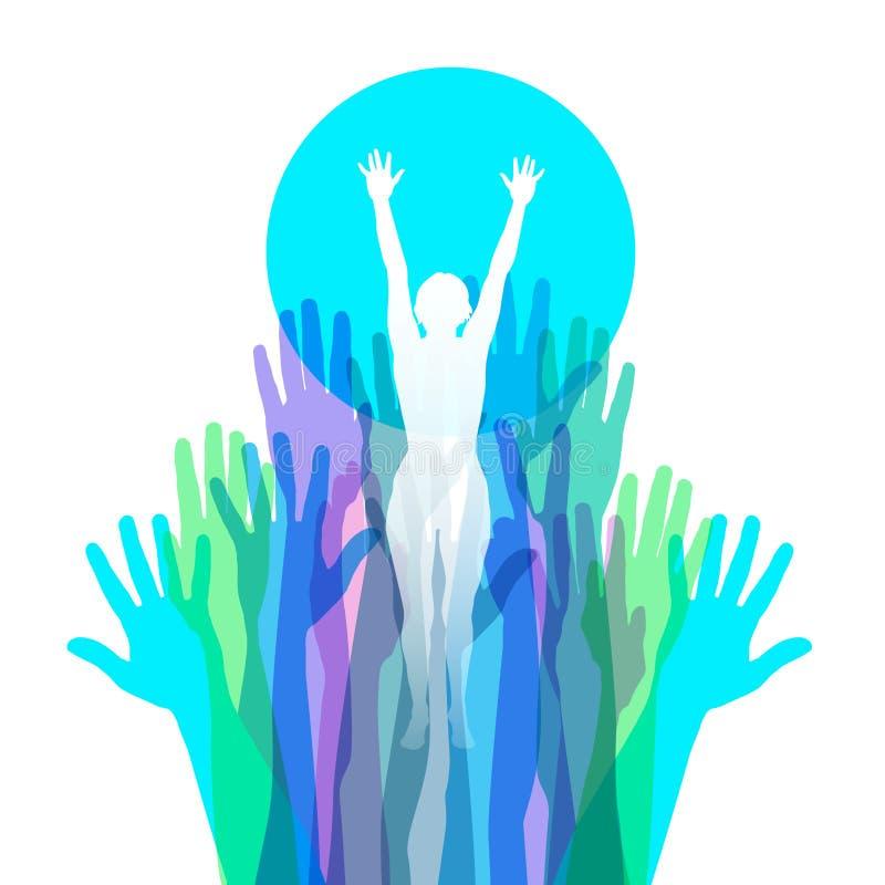 Image élevante de l'habilitation des femmes illustration de vecteur