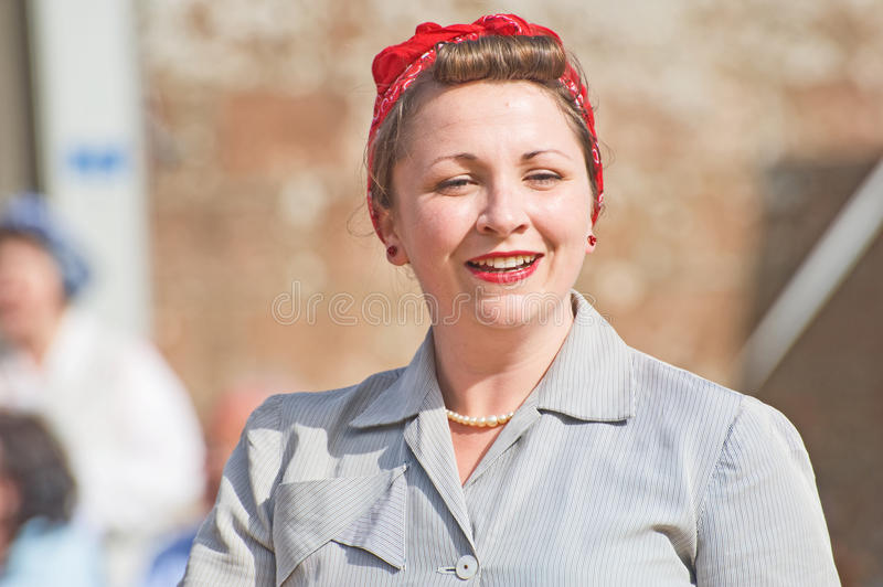 Image of a 1940's woman. stock photography