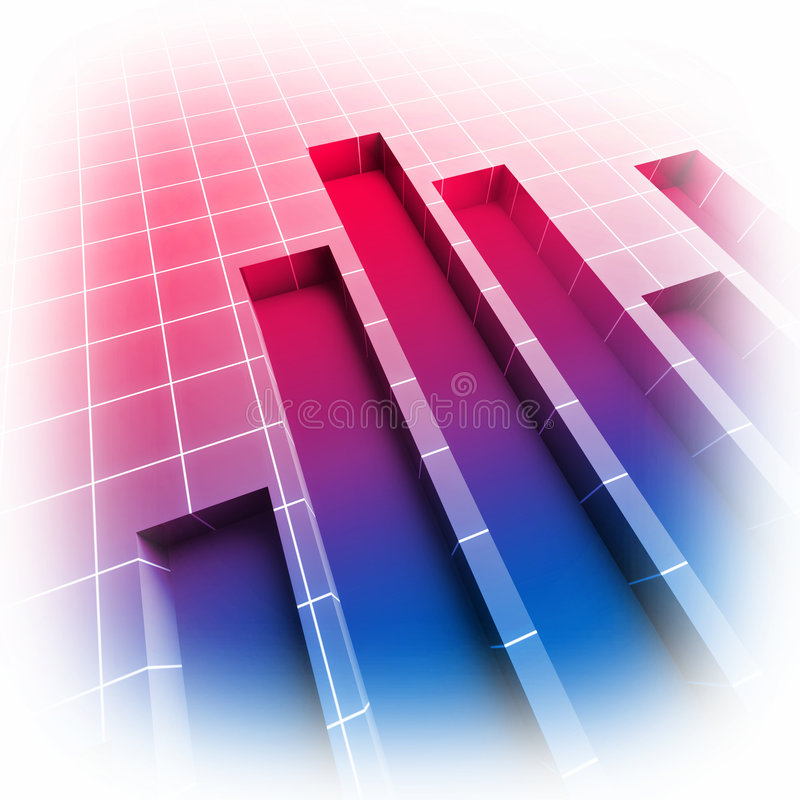 Image 3d of financial statistic chart royalty free illustration