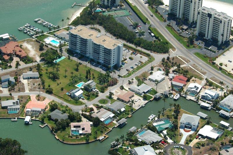 Image aérienne côtière de la Floride photos stock