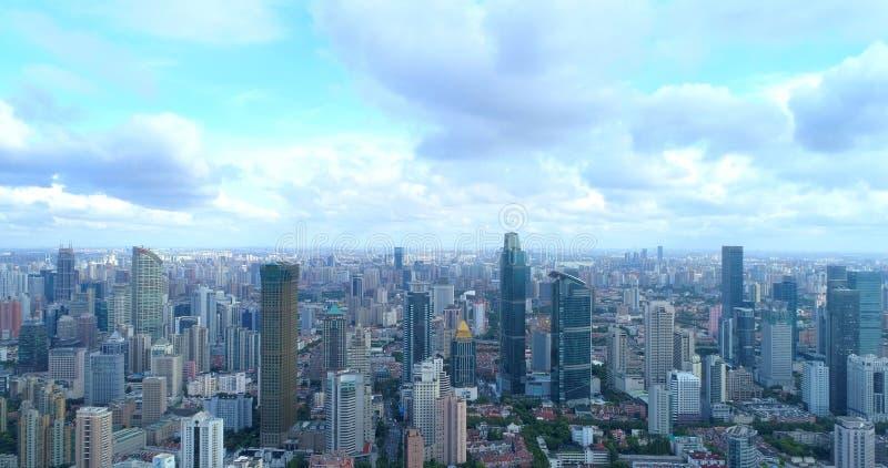 Image aérienne d'une mégalopole photo stock