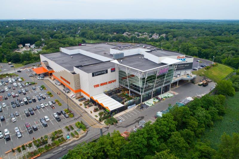 Image aérienne de centre commercial de Jordans Home Depot Massa de lecture image libre de droits