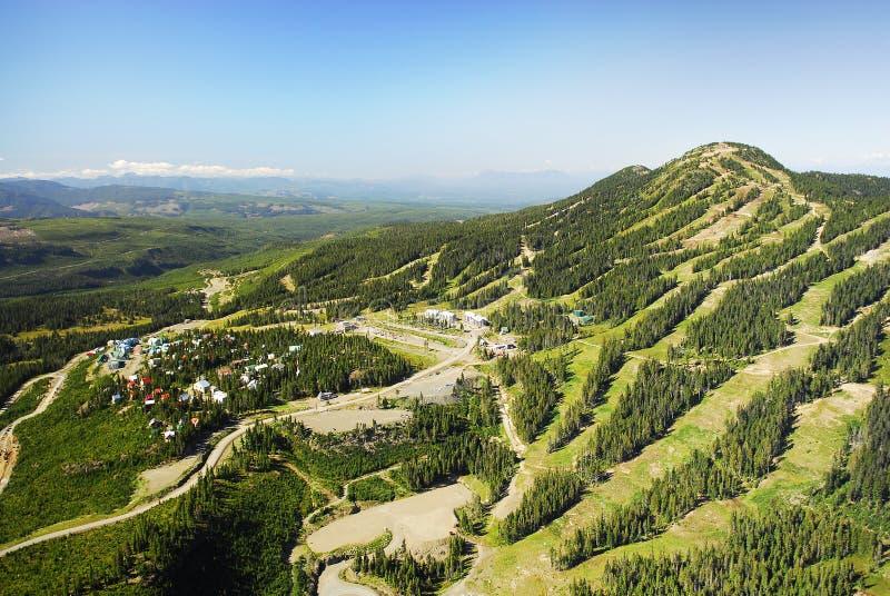 Image aérienne de Mt Station de sports d'hiver alpine de Washington, AVANT JÉSUS CHRIST, Canada photos stock