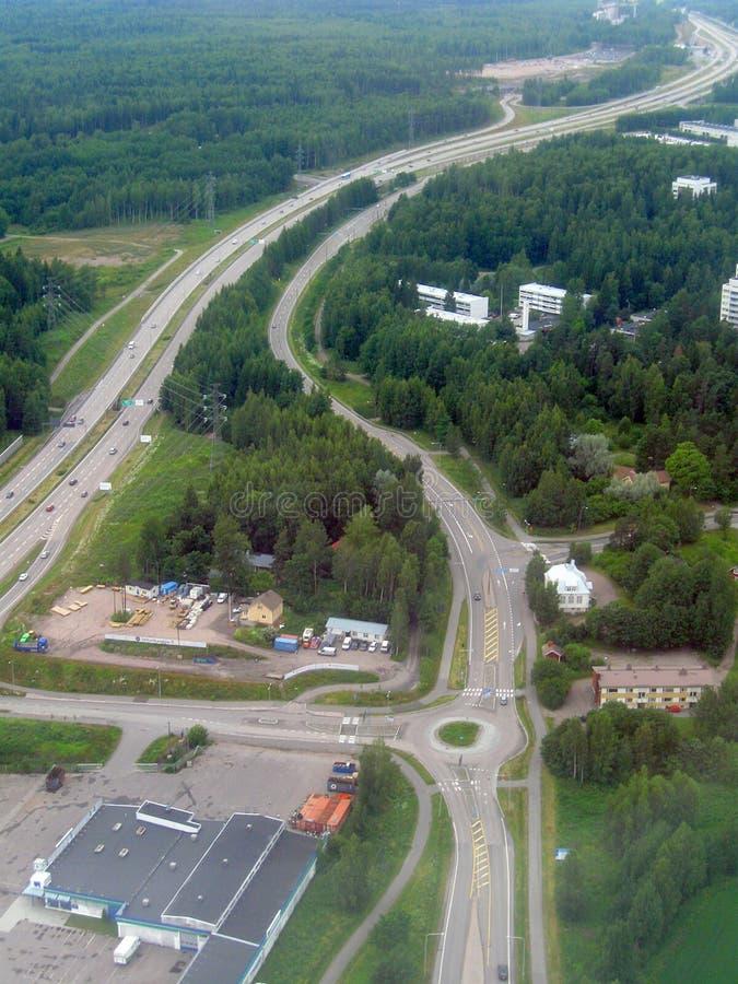 Image aérienne de route photo stock