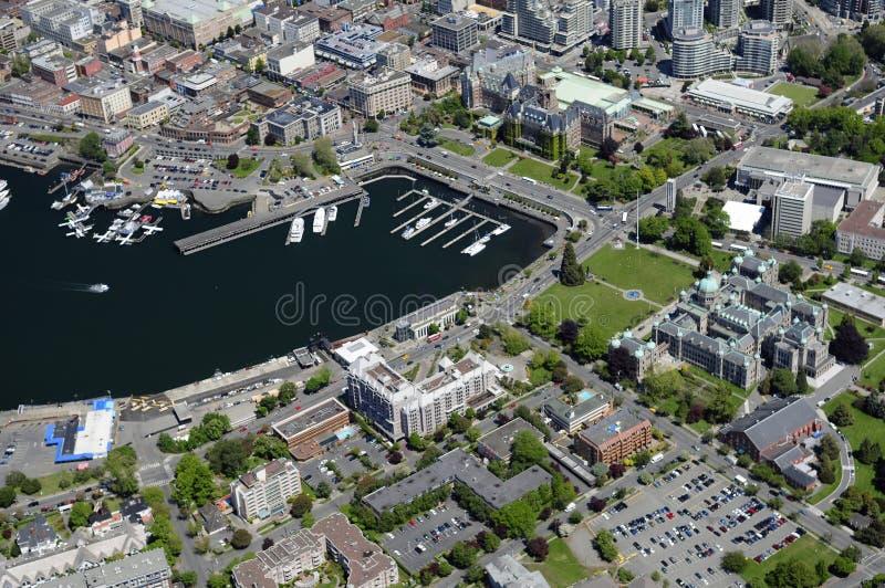 Image aérienne de Victoria, AVANT JÉSUS CHRIST, Canada image libre de droits