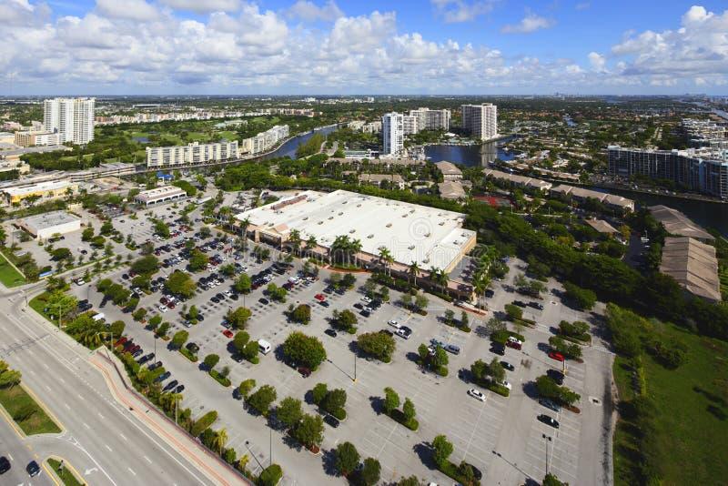 Image aérienne Walmart Hallandale photos libres de droits