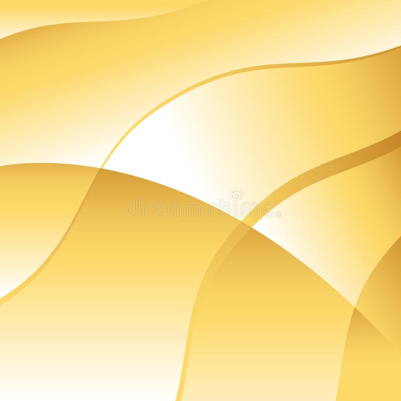 Abstract Gold Wave Background Vector. An image of a Abstract Gold Wave Vector Background royalty free illustration