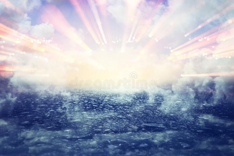 Image of abstract path to heaven or sky. seeing the light concept or way to freedom. stock photos