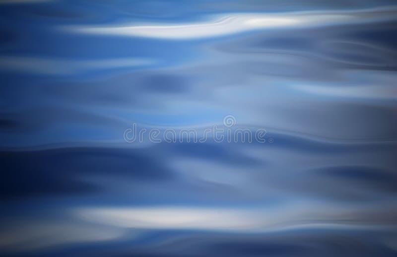 Image abstraite créée par des vagues sur l'eau image stock