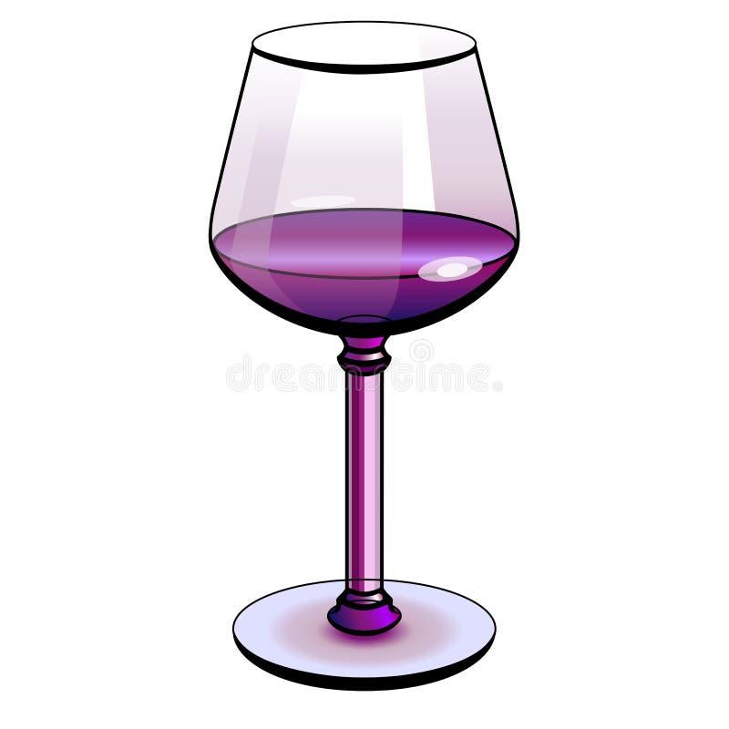 Image abstraite d'une glace de vin Illustration de couleur illustration stock