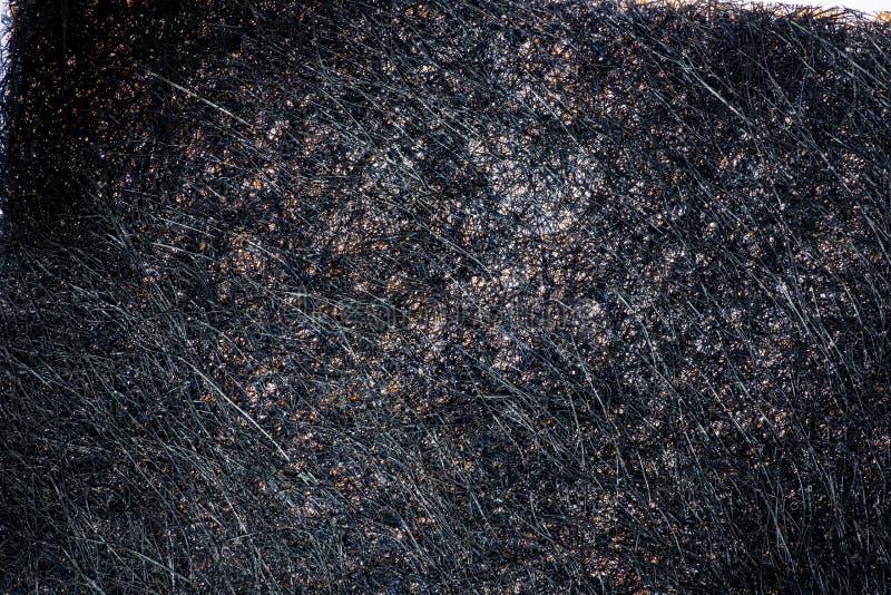 Image abstraite d'une pluralité de brins noirs entrelacés images stock