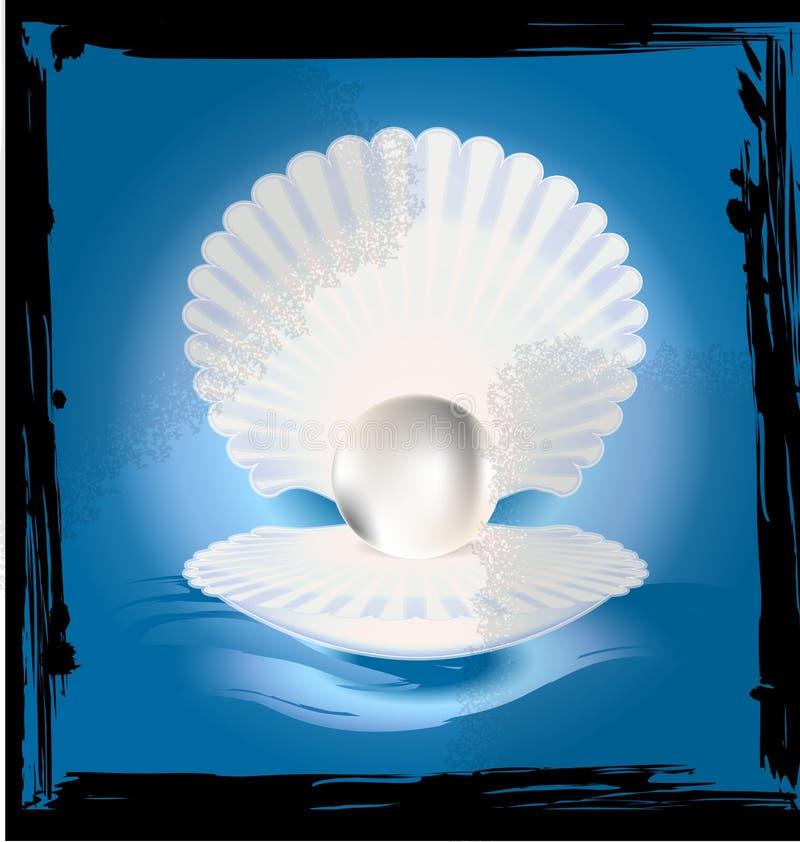 Image abstraite de coquille illustration de vecteur