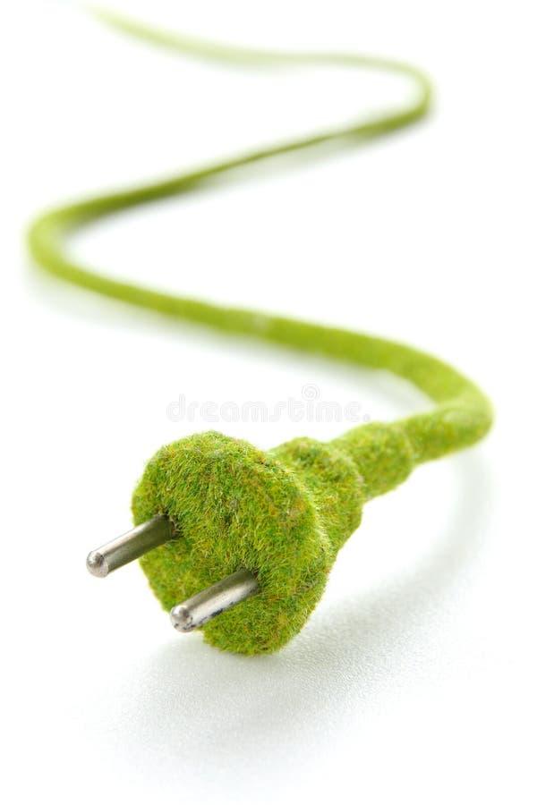 Image abstraite de fiche électrique verte photo libre de droits