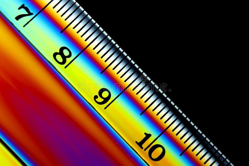 Image abstraite de Ruler colorée image stock