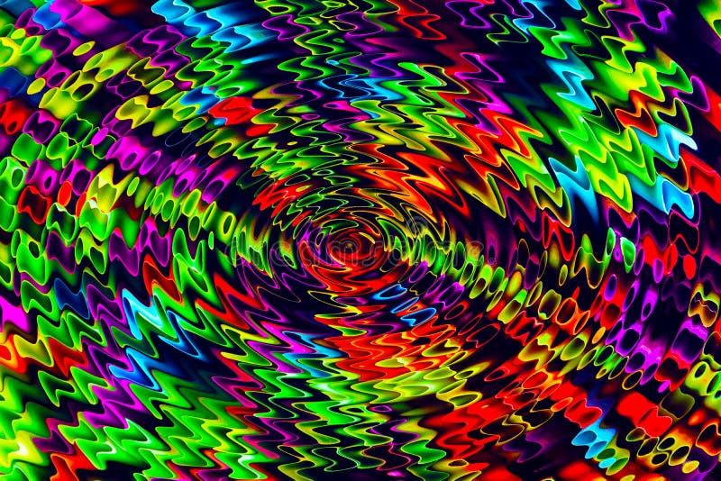 Image abstraite des éléments colorés déformés images stock