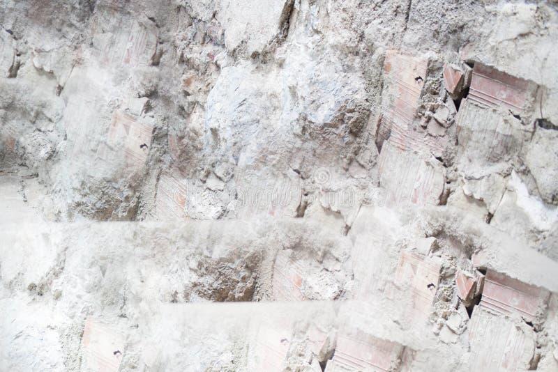 Image abstraite des briques avec la clé blanche images libres de droits