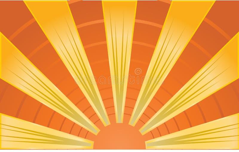 Image abstraite des rayons de soleil illustration de vecteur