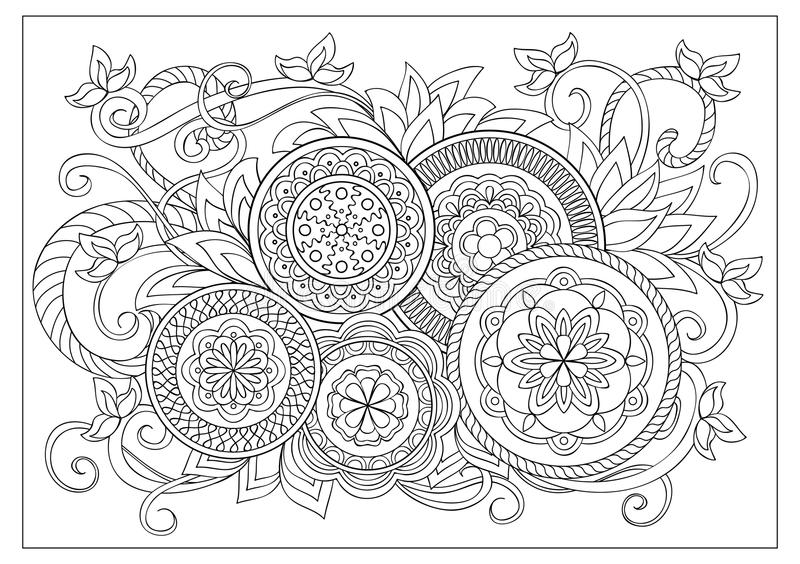 Image for adult coloring page royalty free illustration