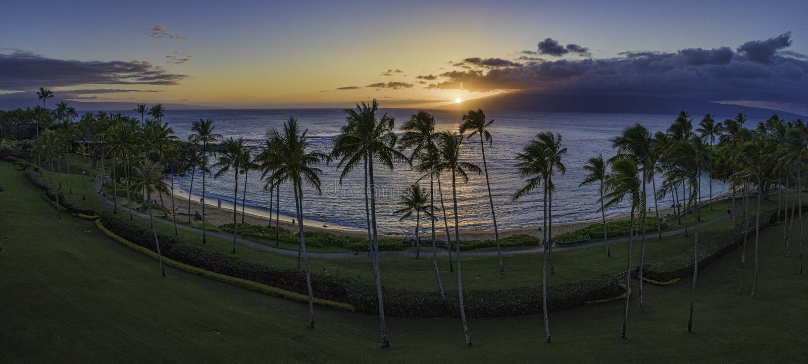 Kapalua Bay sunset stock image