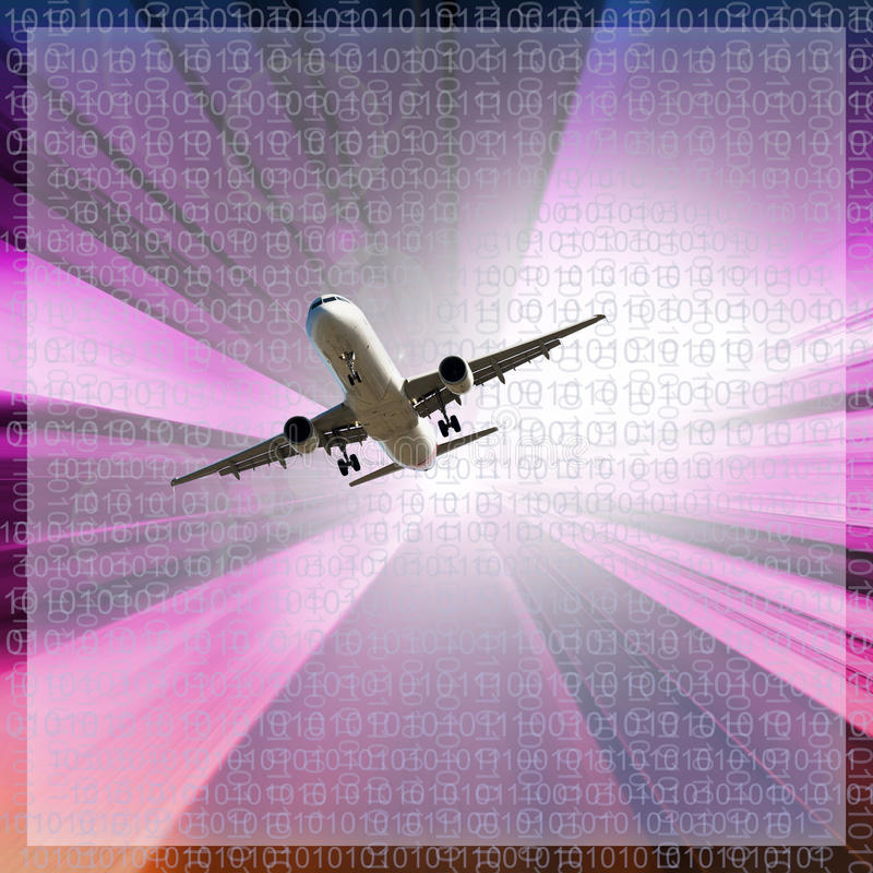 Image about airplane. Modern and technological image about airplane in the sky vector illustration