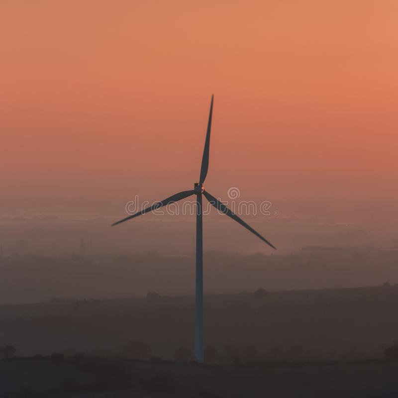 An image of amazing wind turbine with beautiful sky stock photography