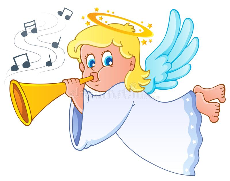 Image with angel 3 vector illustration