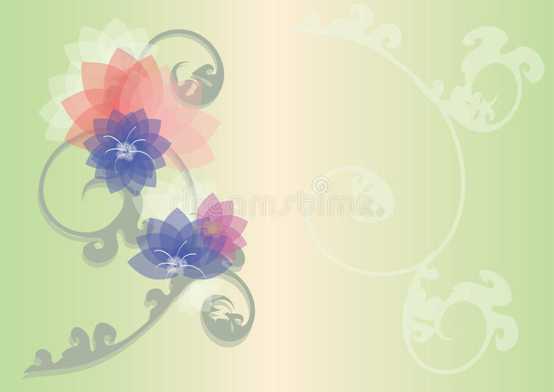 Image au sol de dos floral de graphique image libre de droits