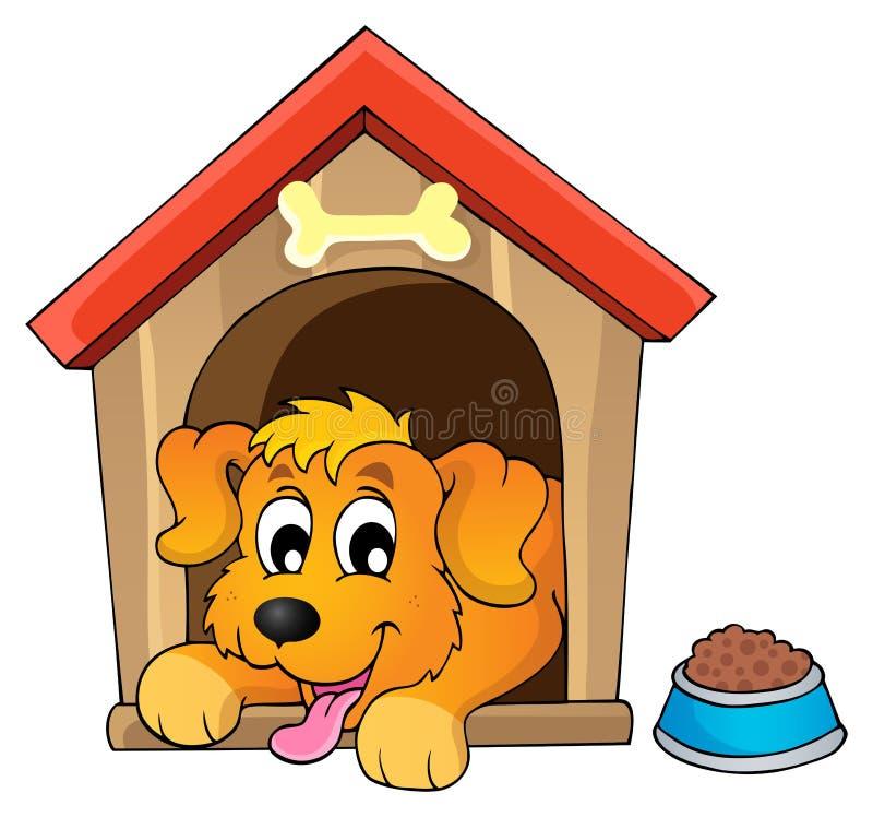 Image avec le thème 1 de chien illustration libre de droits