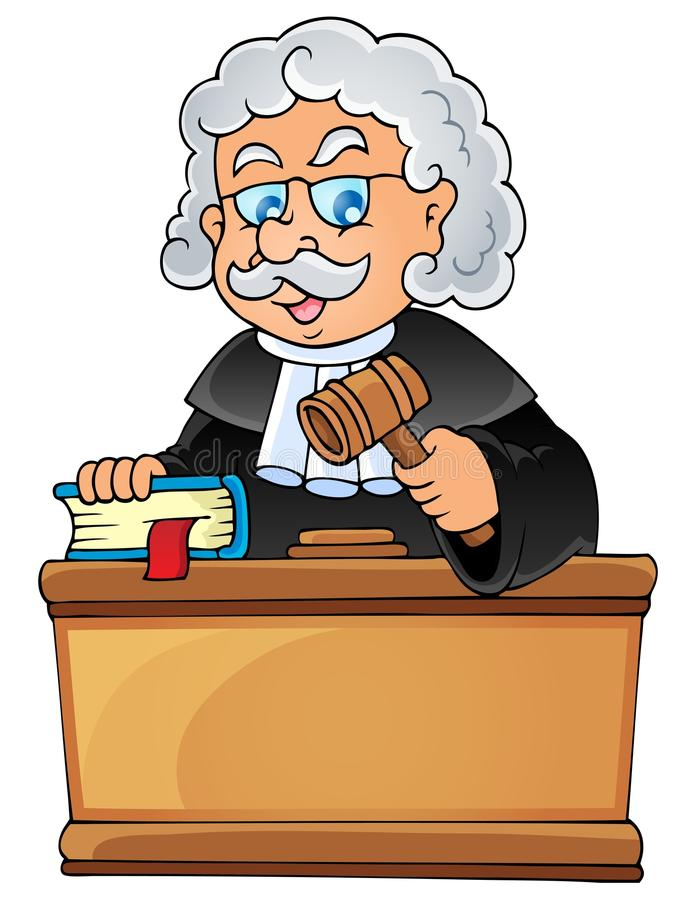 Image avec le thème 1 de juge illustration stock