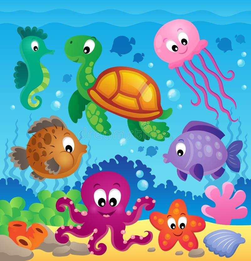 Image avec le thème sous-marin 7 illustration libre de droits