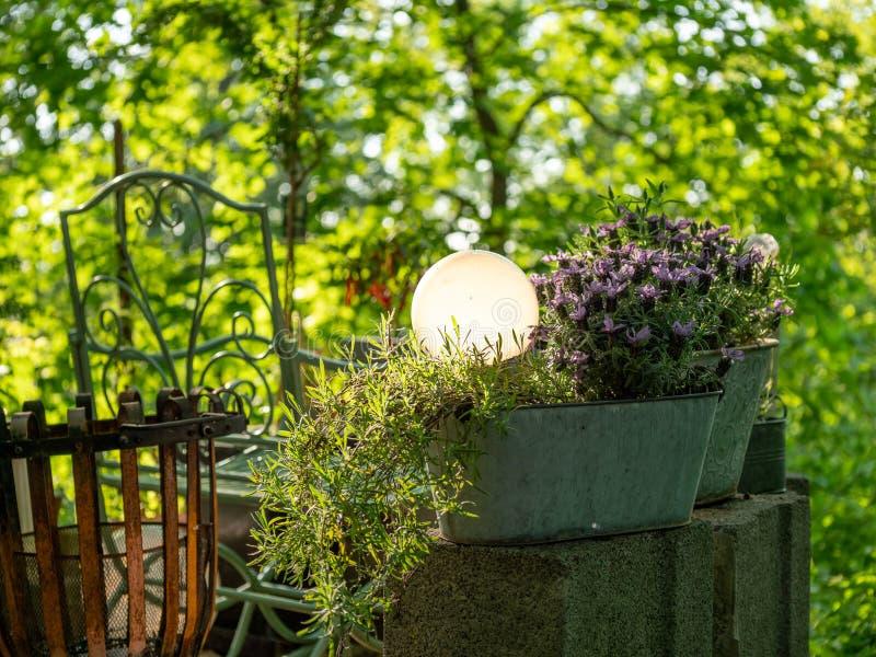 Image avec plusieurs articles pour la décoration de jardin photo libre de droits