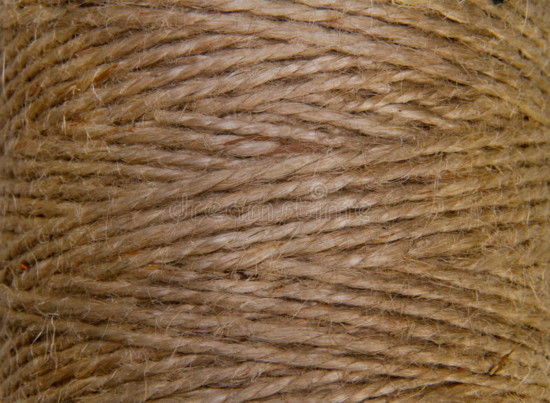 Image Background Coil Of Hemp Thread Royalty Free Stock Image