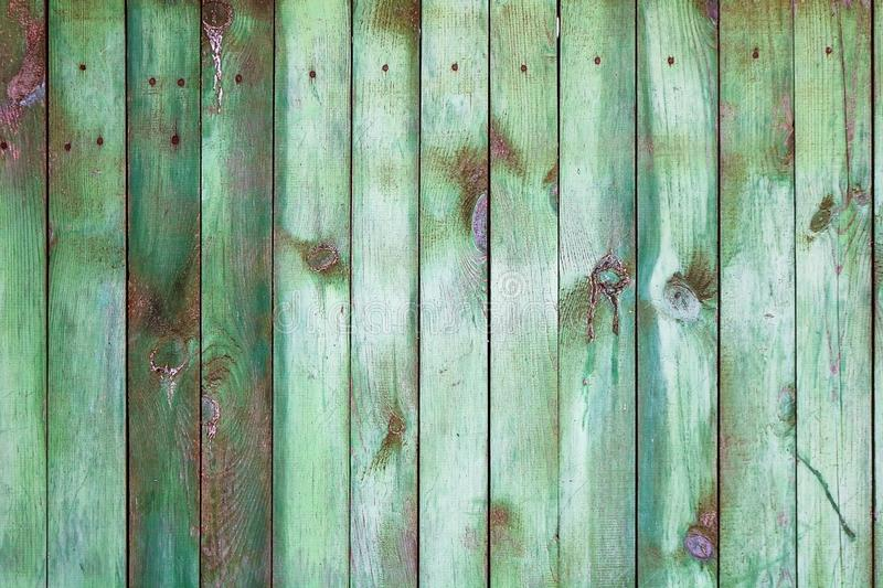 Background with green wooden fence royalty free stock images