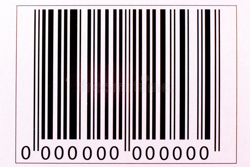 The image of the bar code stock photo
