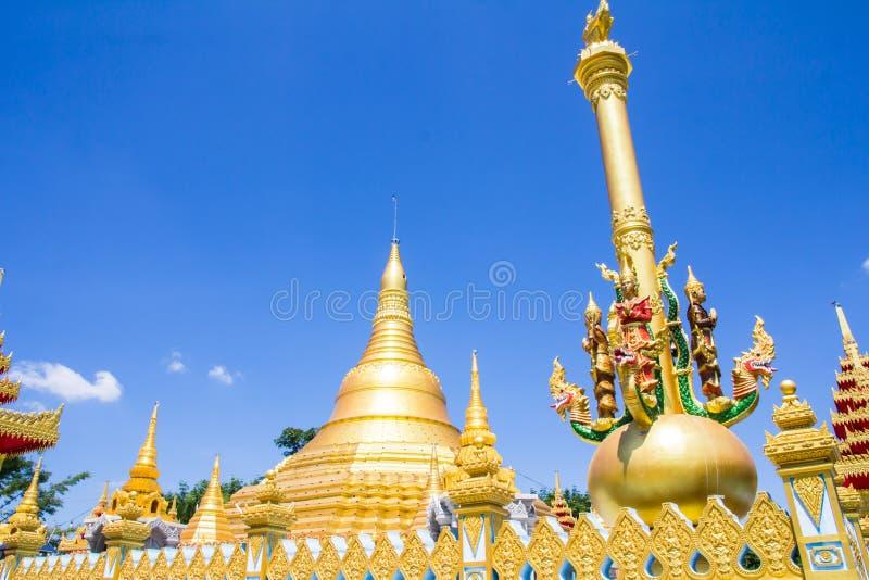 Beautiful pagoda in temple stock image