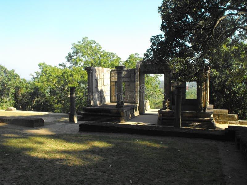 THIS IS IMAGE BEAUTIFUL YAPAHUWA ROCK FORTRESS OF SRI LANKA. SRILANKAN BEAUTIFUL YAPAHUWA ROCK FORTRESS OF KURUNEGALA stock photography