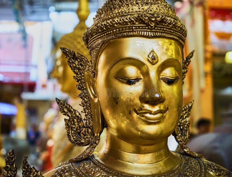 This image is about bell buddha stature, bangkok thailand. This image is about buddha stature , bangkok thailand royalty free stock photos