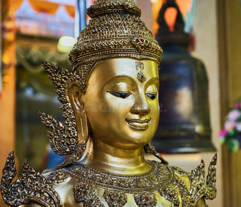 This image is about bell buddha stature, bangkok thailand. This image is about buddha stature , bangkok thailand stock image