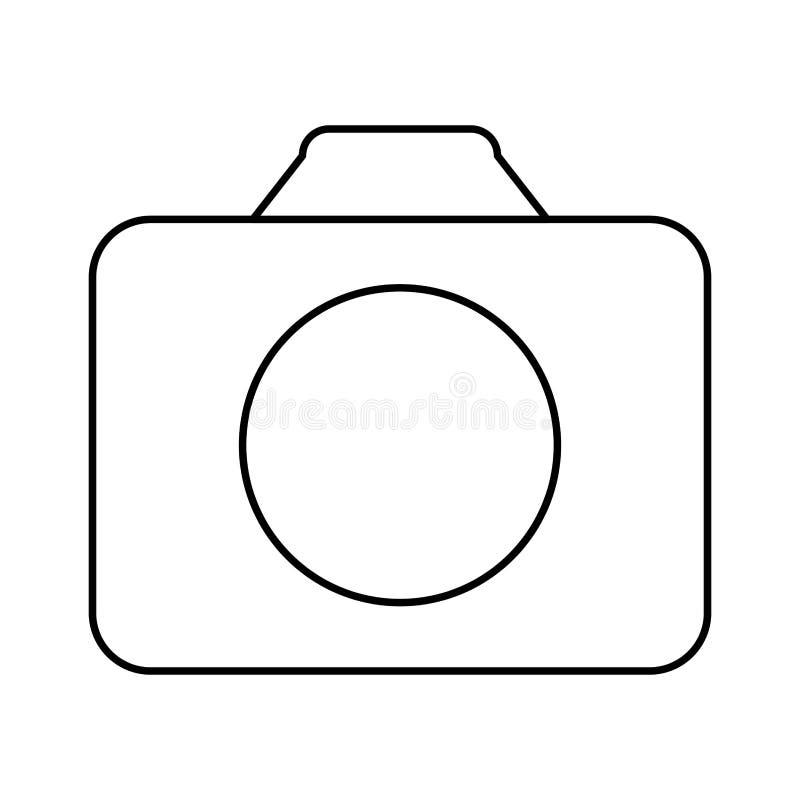 Image blanche d'icône de camara de symbole illustration de vecteur