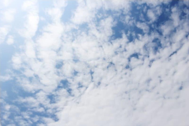 Blur cloud on blue sky. Image of blur cloud on blue sky stock photo