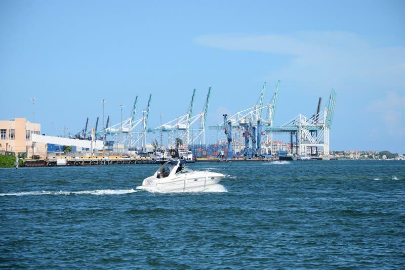 Miami port royalty free stock image