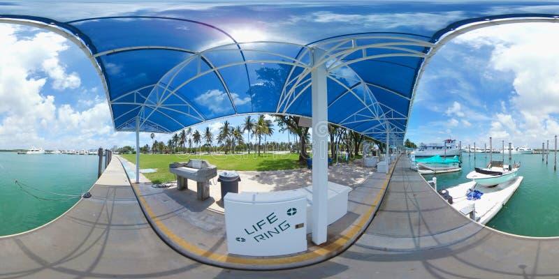 360 image of a boat marina royalty free stock image